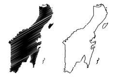Вектор карты Quintana Roo иллюстрация вектора