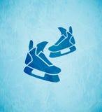 Вектор катается на коньках предпосылка иллюстрация штока