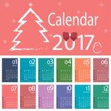 Вектор календаря Стоковые Изображения RF