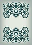 Вектор каллиграфии винтажной рамки границы богато украшенный Стоковое Фото