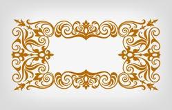Вектор каллиграфии винтажной рамки границы богато украшенный Стоковая Фотография