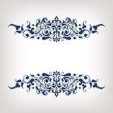Вектор каллиграфии винтажной рамки границы декоративный богато украшенный Стоковое Фото