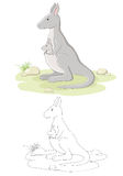 вектор кенгуруа семьи Стоковые Изображения RF