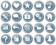 Вектор кнопки значка сети интернета установленный Стоковое Изображение