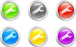 вектор кнопки ключевой Стоковые Изображения