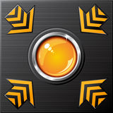 вектор кнопки лоснистый Стоковое Изображение RF
