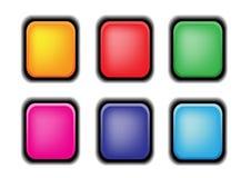 вектор кнопки установленный Иллюстрация вектора