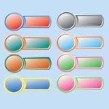 вектор кнопки varicolored Стоковая Фотография