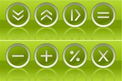 вектор кнопок зеленый Стоковое Изображение