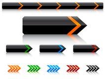 вектор кнопок Стоковые Изображения