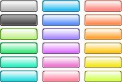 вектор кнопок Стоковое Изображение