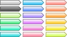 вектор кнопок Стоковое Изображение RF