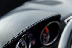 вектор кожи иллюстрации предпосылки eps10 Современная деталь интерьера автомобиля дела Стоковое фото RF