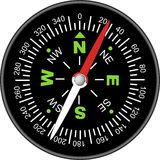 вектор компаса Стоковое Изображение RF