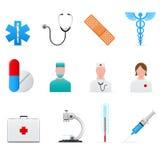 вектор комплекта икон медицинский Стоковое Изображение