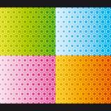 вектор комплекта картины сота безшовный Стоковое фото RF