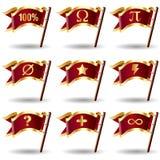 вектор комплекта математики иконы флага кнопок королевский Стоковые Изображения