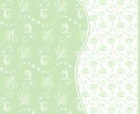 вектор комплекта предпосылок флористический безшовный Стоковая Фотография
