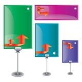 вектор комплекта цвета знамени Бесплатная Иллюстрация