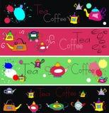 вектор комплекта элементов кофе Стоковое Фото