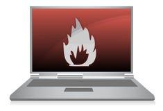 вектор компьтер-книжки пожара Стоковые Фотографии RF