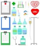 вектор комплекта иконы медицинский Стоковое Изображение RF
