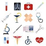 вектор комплекта икон медицинский Стоковые Изображения RF
