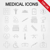 вектор комплекта икон медицинский бесплатная иллюстрация