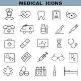 вектор комплекта икон медицинский Стоковая Фотография RF