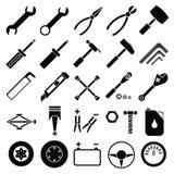 Вектор комплекта инструментов автоматического механика бесплатная иллюстрация