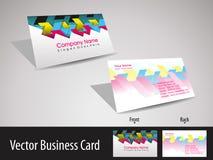 вектор конструкции визитной карточки установленный стильный Стоковые Фотографии RF