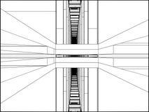 Вектор конструкции коридора прохода Стоковое Изображение