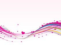 вектор конструкции розовый романтичный Стоковое Изображение RF
