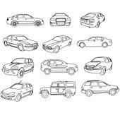 вектор контуров автомобилей Бесплатная Иллюстрация