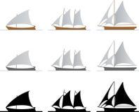 вектор кораблей Стоковое Изображение
