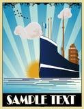 вектор корабля стиля Арт Деко стоковые изображения