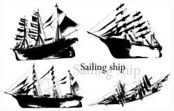 вектор корабля иллюстрация штока