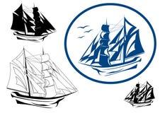 вектор корабля sailing иллюстрация штока