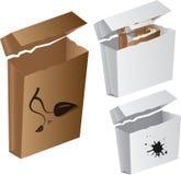 вектор коробки коробки Стоковая Фотография RF