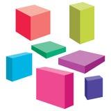 вектор коробок Стоковые Изображения RF