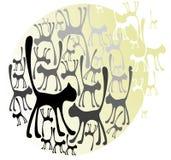 вектор котов Стоковая Фотография RF