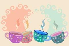 вектор кофейных чашек Стоковое Изображение