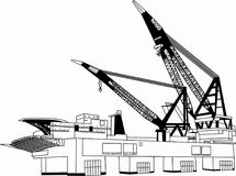 Вектор - кран башни здания Иллюстрация штока
