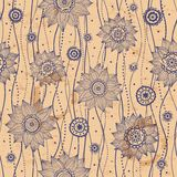 вектор красивейшей флористической иллюстрации безшовный Стоковые Фотографии RF