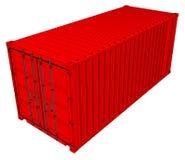 Вектор красного грузового контейнера бесплатная иллюстрация