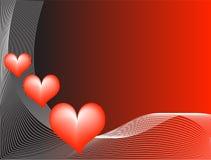 вектор красного цвета влюбленности иллюстрации предпосылки Стоковое Изображение