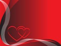 вектор красного цвета влюбленности иллюстрации предпосылки Стоковые Изображения