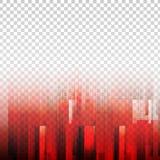 Вектор красного цвета геометрических элементов абстрактный с прозрачной предпосылкой бесплатная иллюстрация