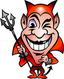 вектор красного цвета иллюстрации дьявола Стоковые Изображения
