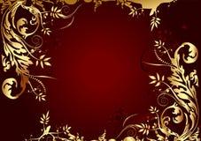 вектор красного цвета иллюстрации золота предпосылки Стоковые Изображения RF